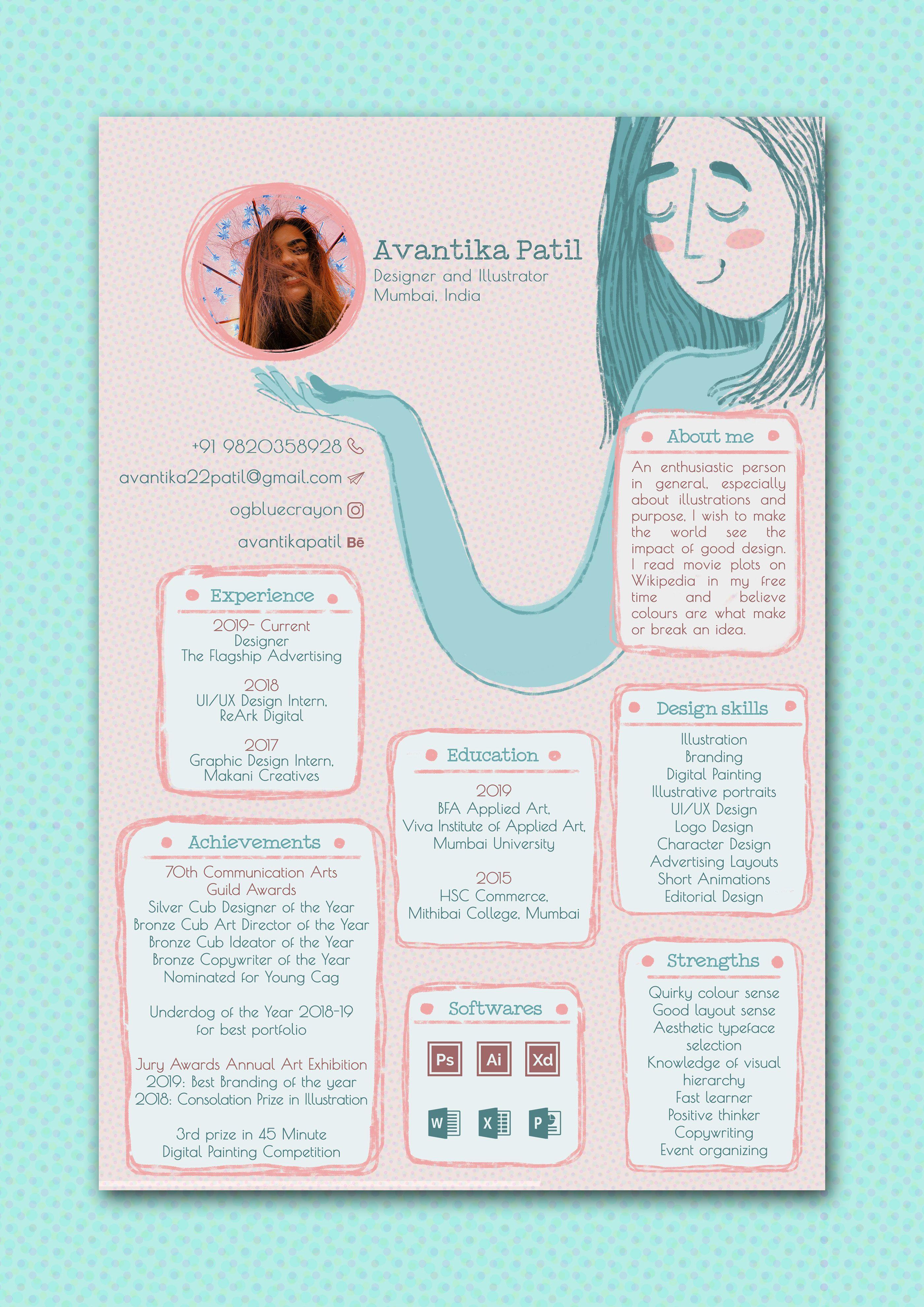 Curriculum Vitae On Behance Graphic Design Resume Resume Design Creative Graphic Design Cv