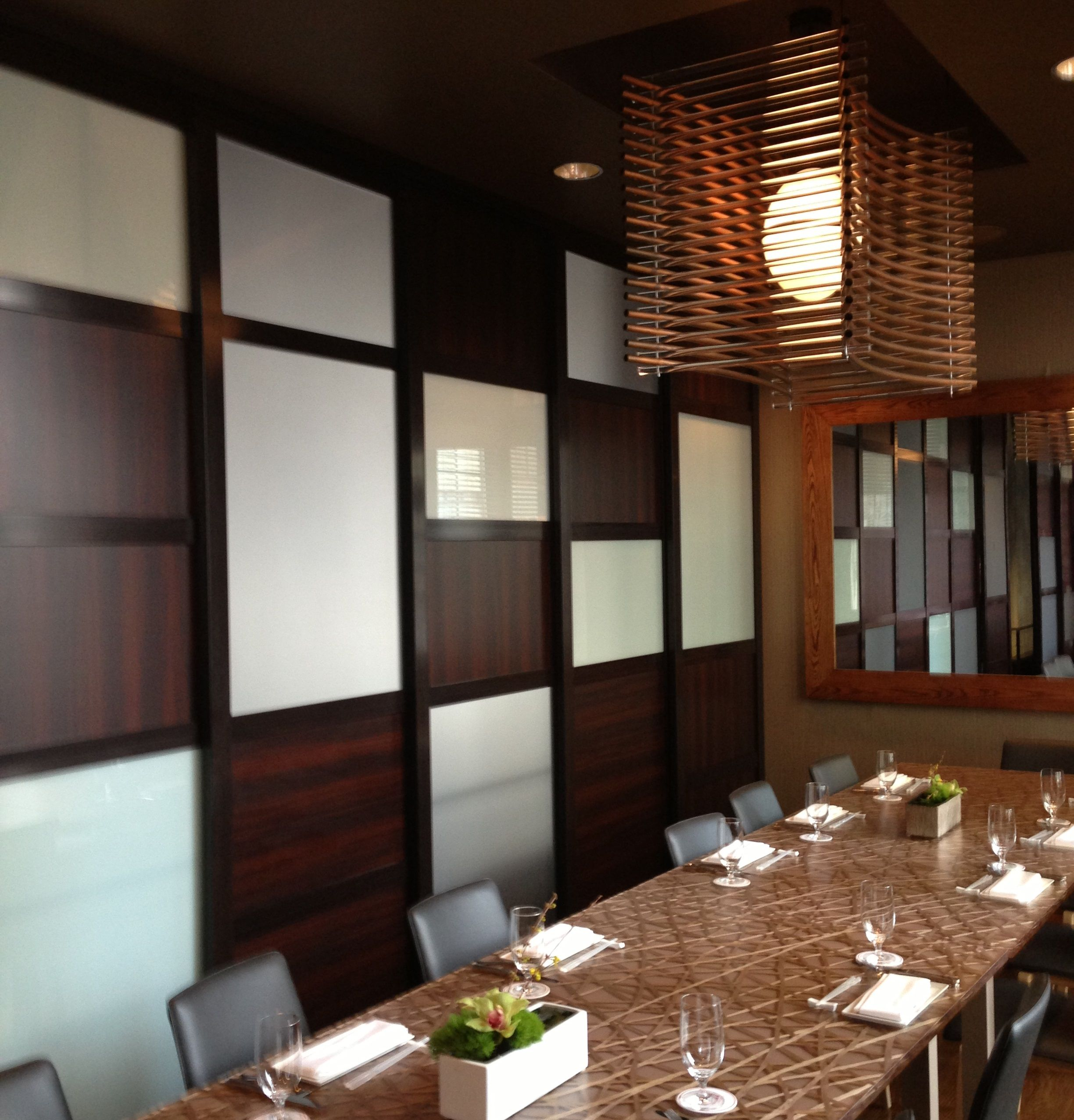 Beautiful Multi Insert Room Divider Installed In A Japanese Restaurant To Create Private Dining Space For Larger Parties