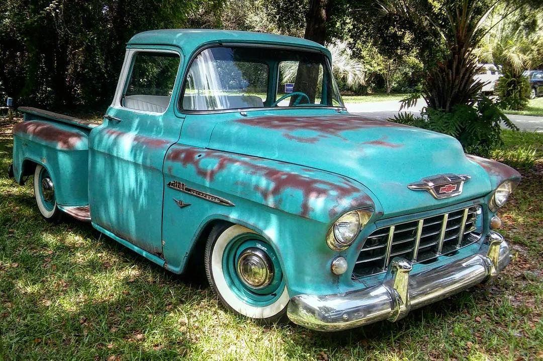 Instagram 55 chevy truck, Classic chevy trucks, Classic