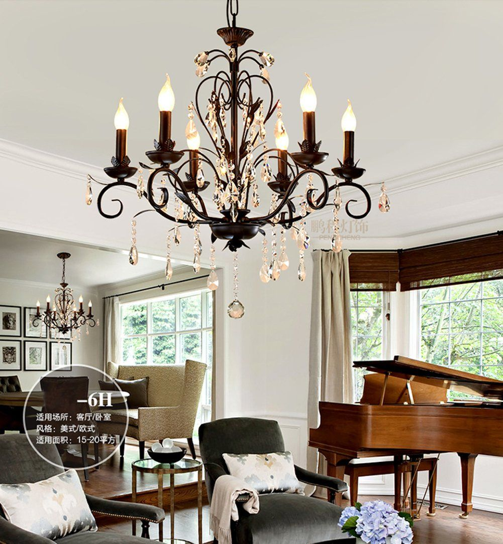 Poersi Industrial Chandelier Lighting For Dining Room Kitchen Island Living Chandeliers Black See This Wonderful Item