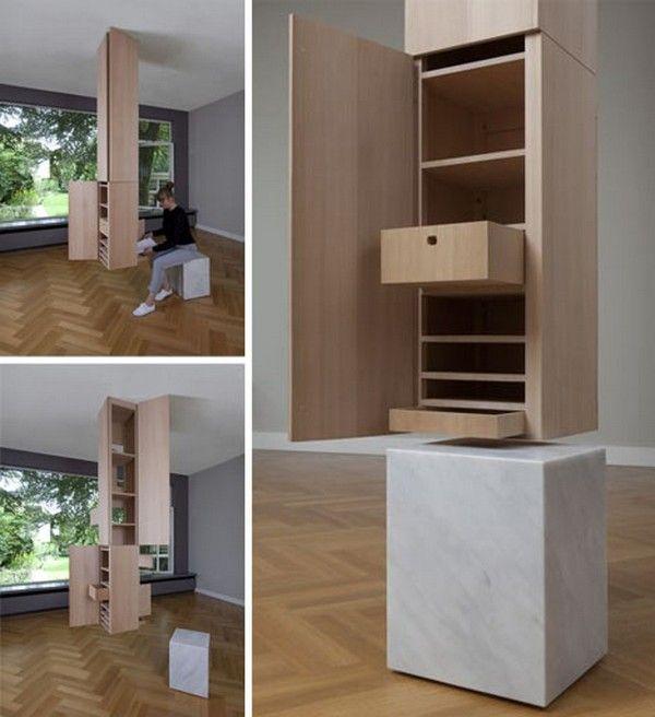 Great Ingenious Storage Locker Hidden In A Fake Support Column