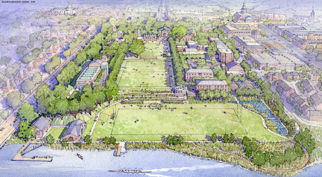 St. John's College Masterplan, Annapolis, Maryland - Landscape by Nelson Byrd Woltz