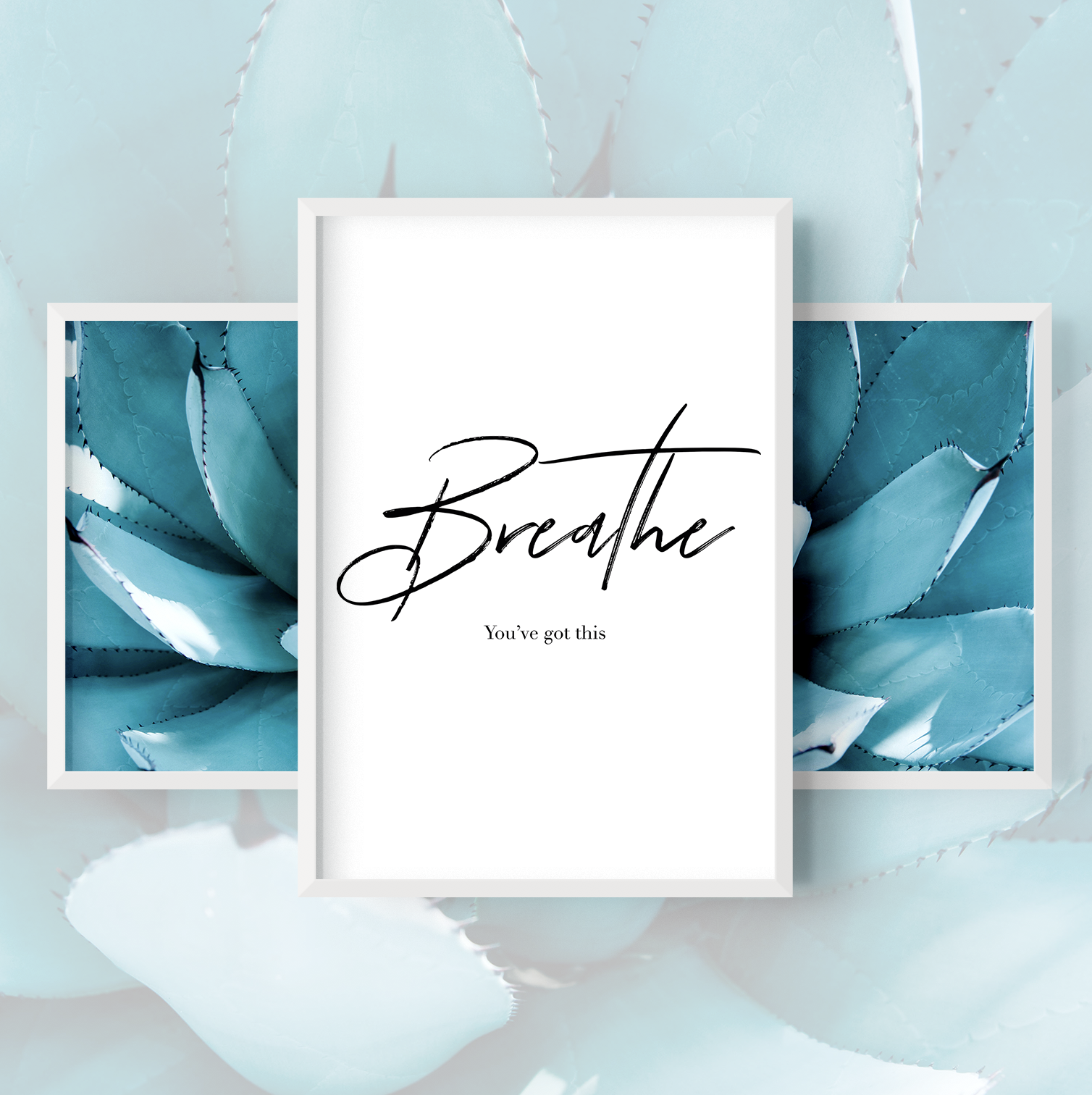 Breathe Blue Agave Home Decor Prints in 2020 Prints