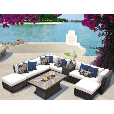 Sol 72 Outdoor Fairfield 10 Piece Rattan Sectional Seating Group