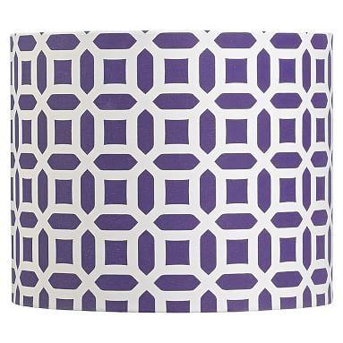 Peyton Shade Teenage Girl Room Decor Blue Office Decor Purple Floor Lamp