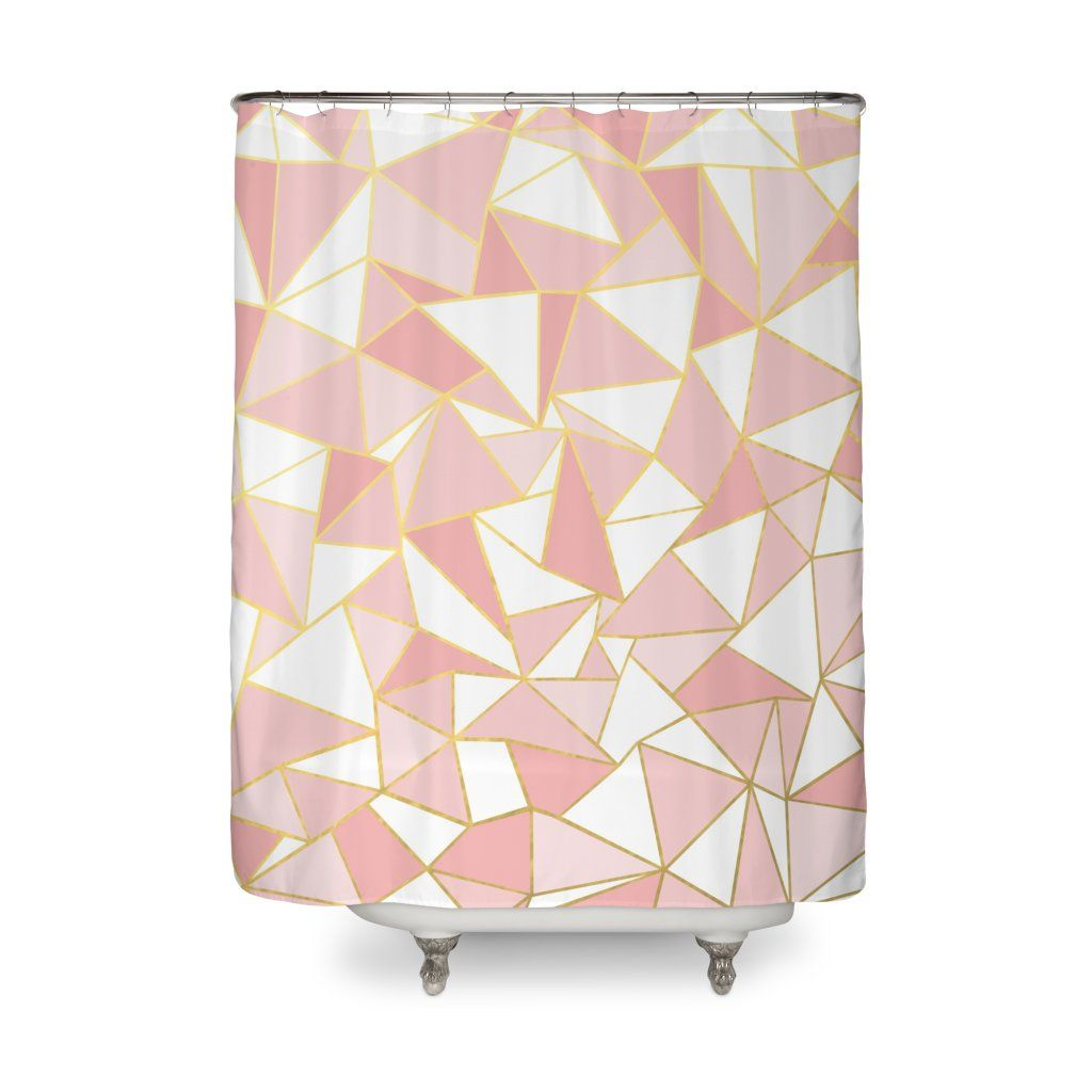 Ab Out Blush And Gold Pink Shower Curtains Gold Bathroom Decor