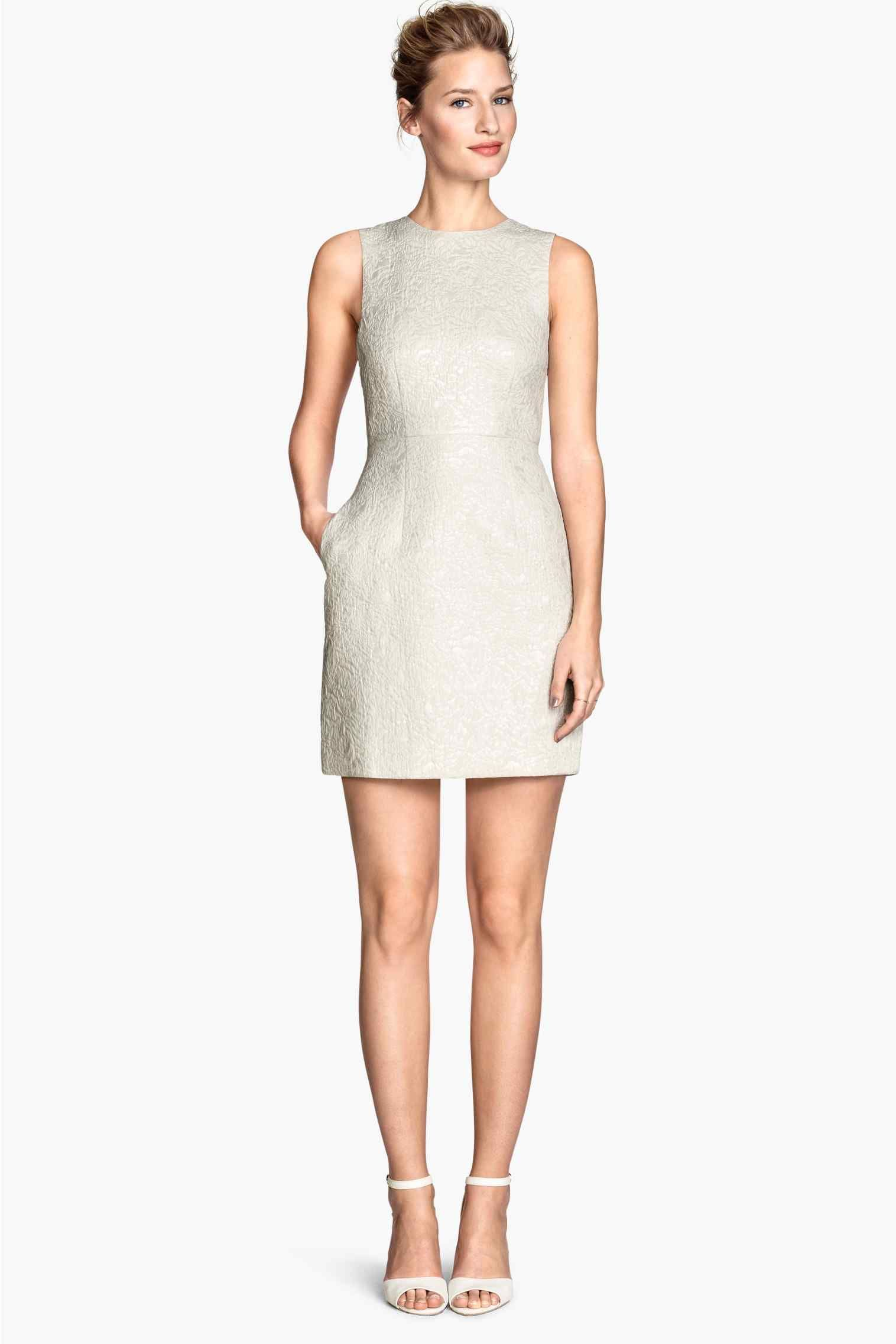 Vestido de tecido jacquard | H&M
