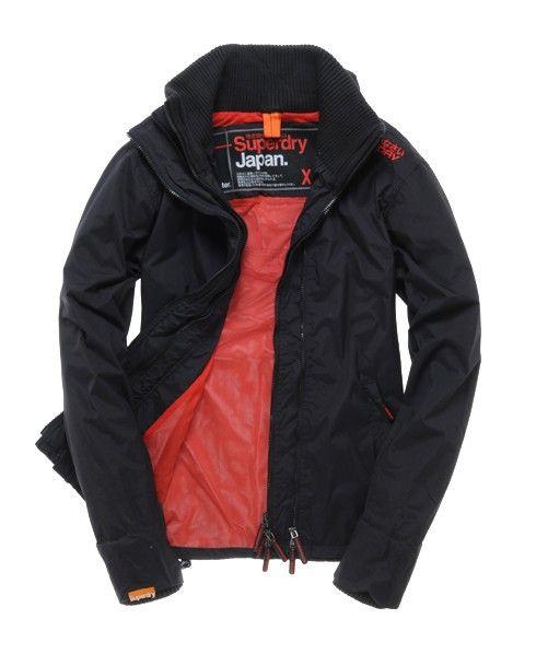 SUPERDRY WINDCHEATER JACKET M MENS BLACK,superdry jackets