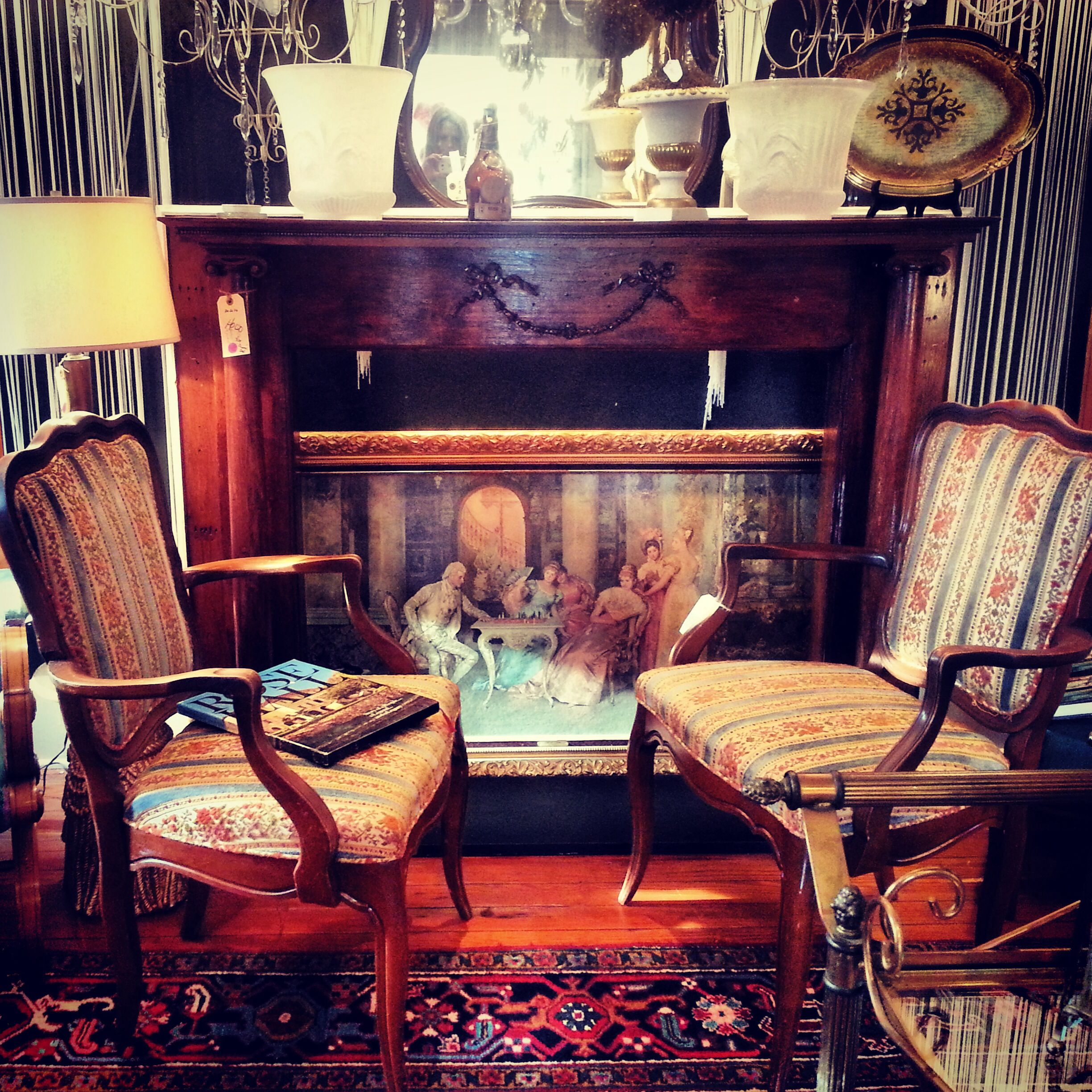#chairs #painting #rugs #dejavufurniture #trolleysquare #de #delaware #interiordesign #mantle #wow #beautiful #shopping