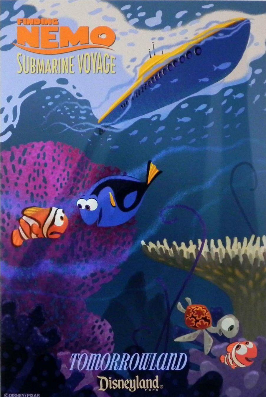 finding nemo submarine voyage poster disney rides attractions disneyland tomorrowland. Black Bedroom Furniture Sets. Home Design Ideas