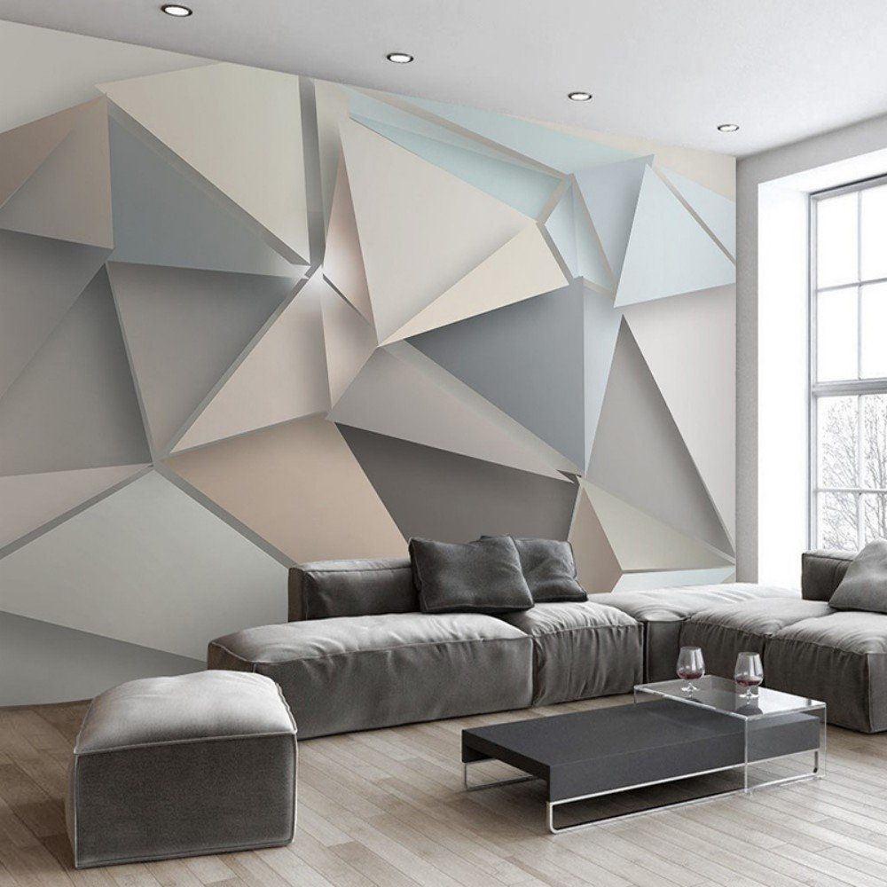 Colomac Wall Mural Modern Abstract Art Geometric Pattern 3d St