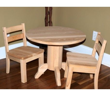 Childrens Round Pedestal Table Set Kids Wooden Table Diy Kids Table Table
