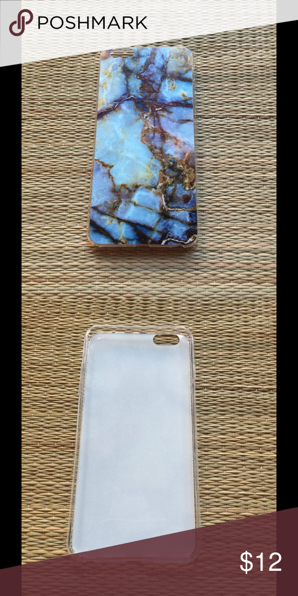 🆕🎄SPECIAL🎄 MARBLE IPHONE 6/6S+ PLUS CASE 🆕 Marble iPhone 6/6S+ plus phone case. Stylish, multi colored faux marble phone case. This case is clear, state of the art, thermo laser-bonded silicone case. I have one case left that I used for a short while, no flaws, still like new. Selling this at a more discounted price. Final price. Sizes, 6/6S+ plus. Reasonable offers/bundles welcome, no trades. My environment is clean, organized, pet/smoke free. Please made any inquires, all sales are…