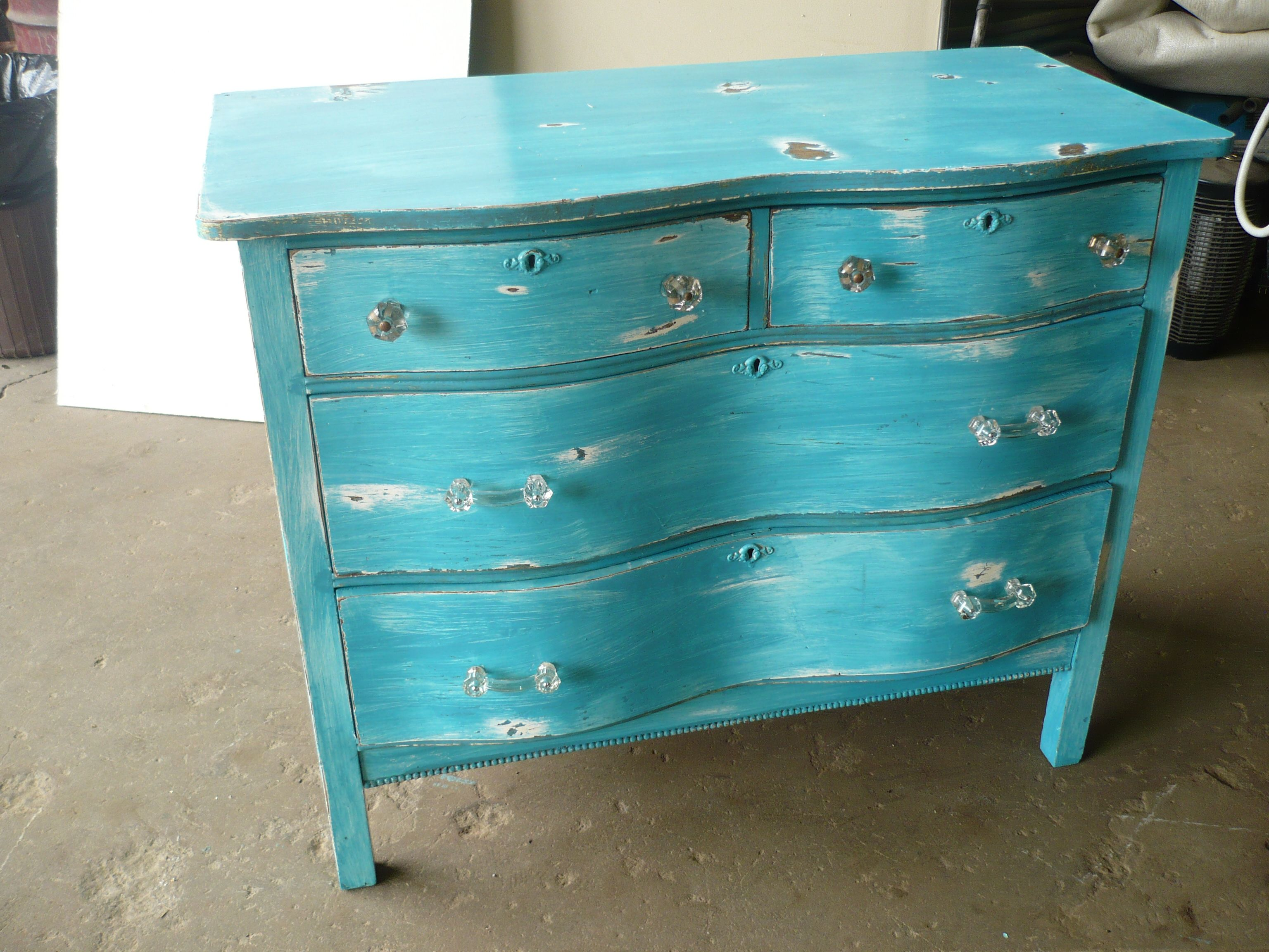 Sweet distressed dresser.