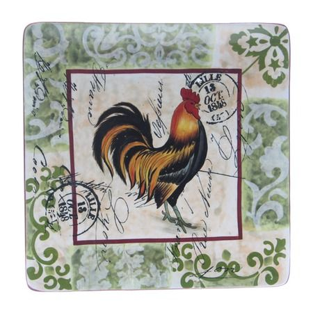 I pinned this Lille Square Rooster Platter from the French Market event at Joss and Main!