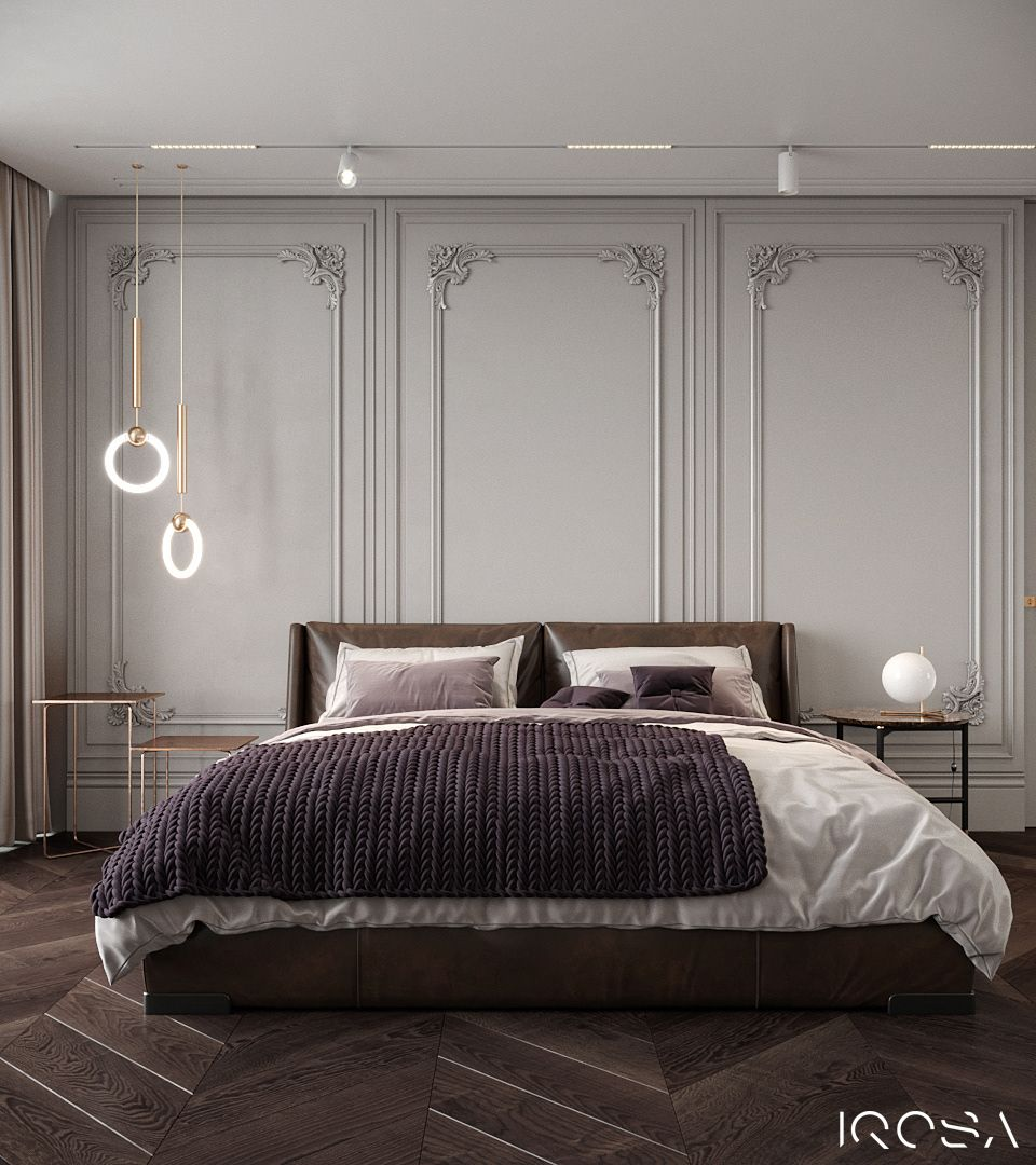 Luxury Apartment Bedroom: The Walls Color Is Nice. The Combination Of White Ceiling