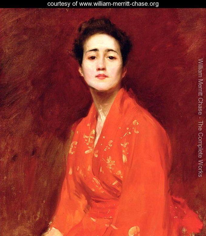 Study of Girl in Japanese Dress, 1895, William Merritt