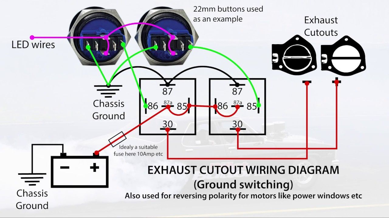 Exhaust Cutout Power Windows Wiring Diagrams Reversing Polarity With R Power Wire Diagram