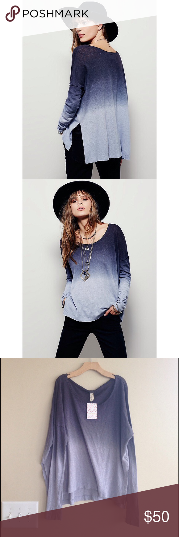 NWT! Free People Starry Night Drop Shoulder Top XS NWT!! Free People Starry Night Drop Shoulder Top. Size XS. Split hem. Color is Lavender/Gray. Perfect Addition to your fall wardrobe! Free People Tops Tees - Long Sleeve
