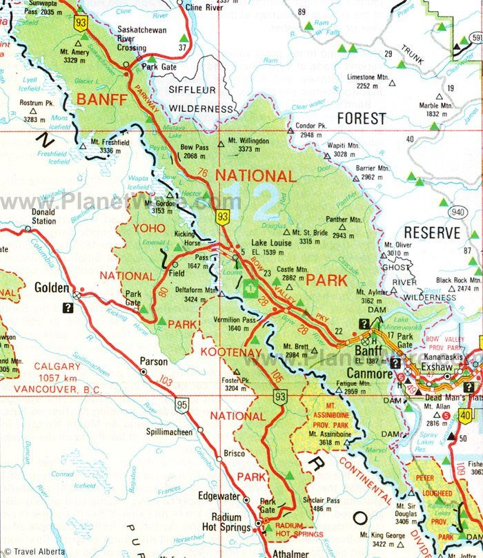 Map Of Canada Banff.Banff National Park Floor Plan Map Vacations In 2019 Banff
