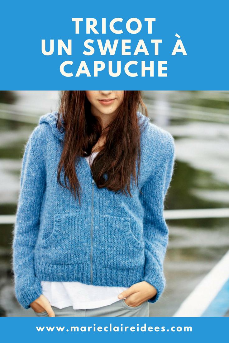 patron de tricot pour les ados tricoter un gilet sweat à capuche ...