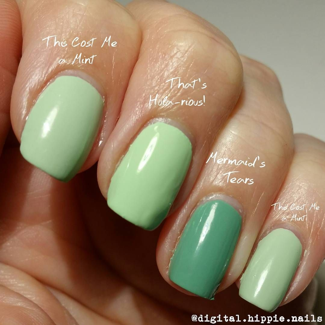 l-r, OPI) This Cost Me A Mint (Soft Shades 2016), That\'s Hula-rious ...