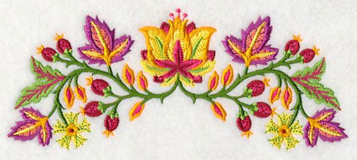 Jacobean Blazing Blooms Border - 2 sizes