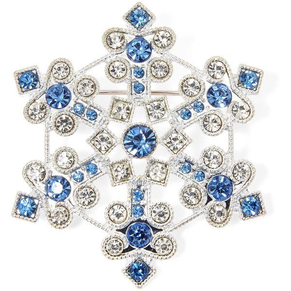Lovely Liz Claiborne Snowflake Pin ($12) ❤ Liked On Polyvore Featuring Jewelry,  Brooches,