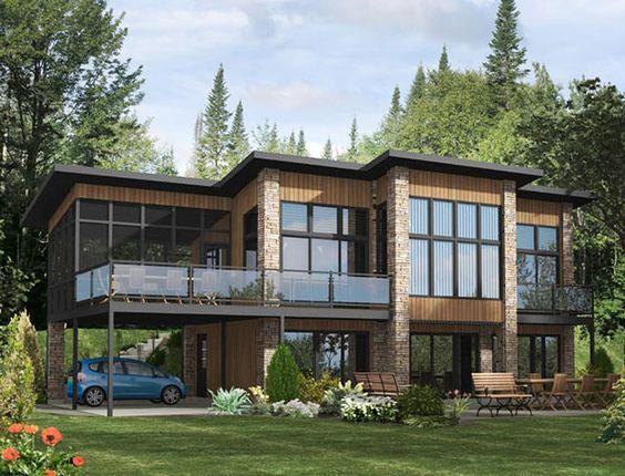 Casa Moderna De 2 Pisos Con Terraza Modern House Plans