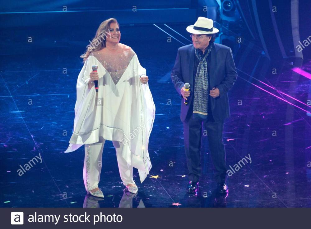 Albano E Romina Reunion Al 70 Festival Di Sanremo Stock Photo 343240540 Alamy In 2020 Festival Stock Photos Photo