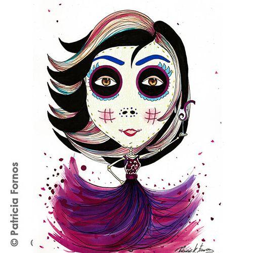 Mexican Skull by Patricia Fornos