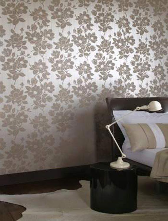 Silver Classic Modern Wallpaper Bedroom Ideas Design in Pretty ...