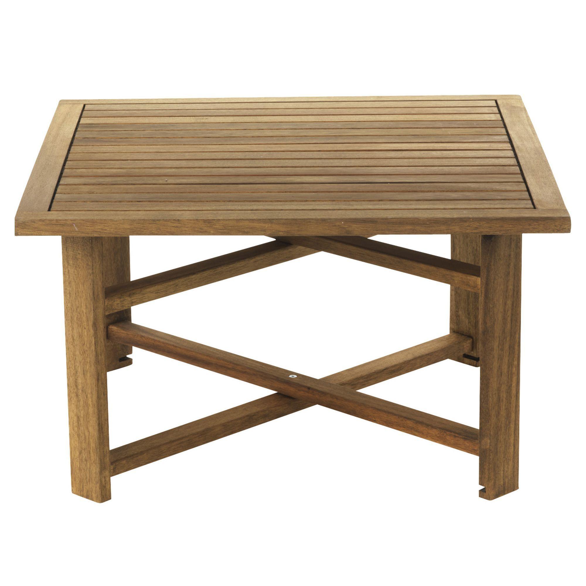 Table basse pliante de jardin Naturel - Guerande - Les tables ...