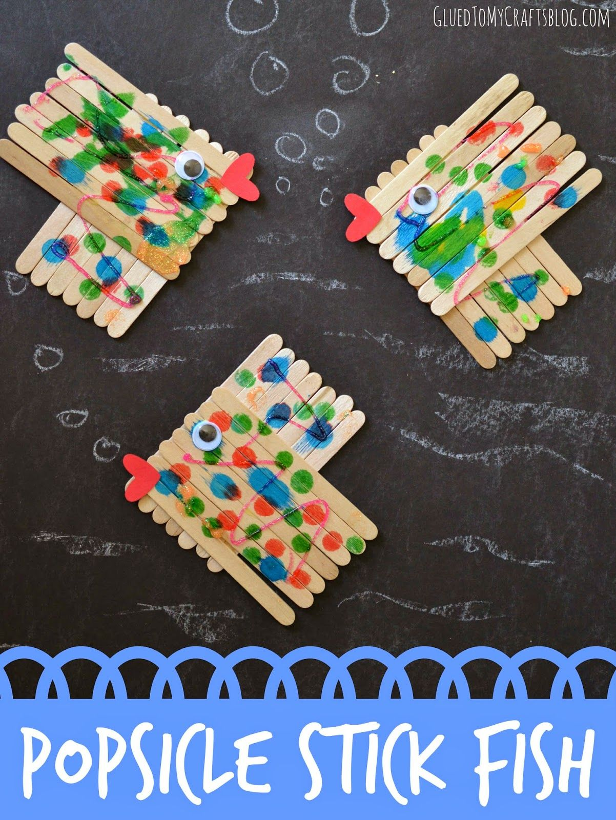 Glued To My Crafts Popsicle Stick Fish {Kid Craft}