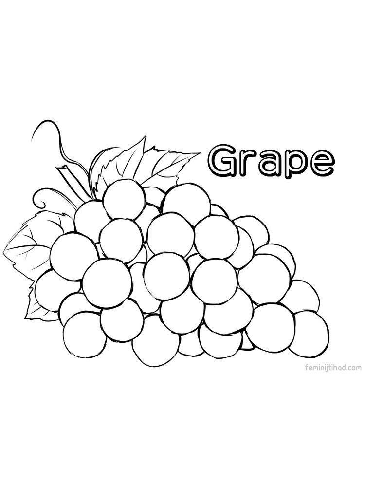 Print Grape Coloring Images Free Fruit Coloring Pages Coloring Pages Hello Kitty Coloring