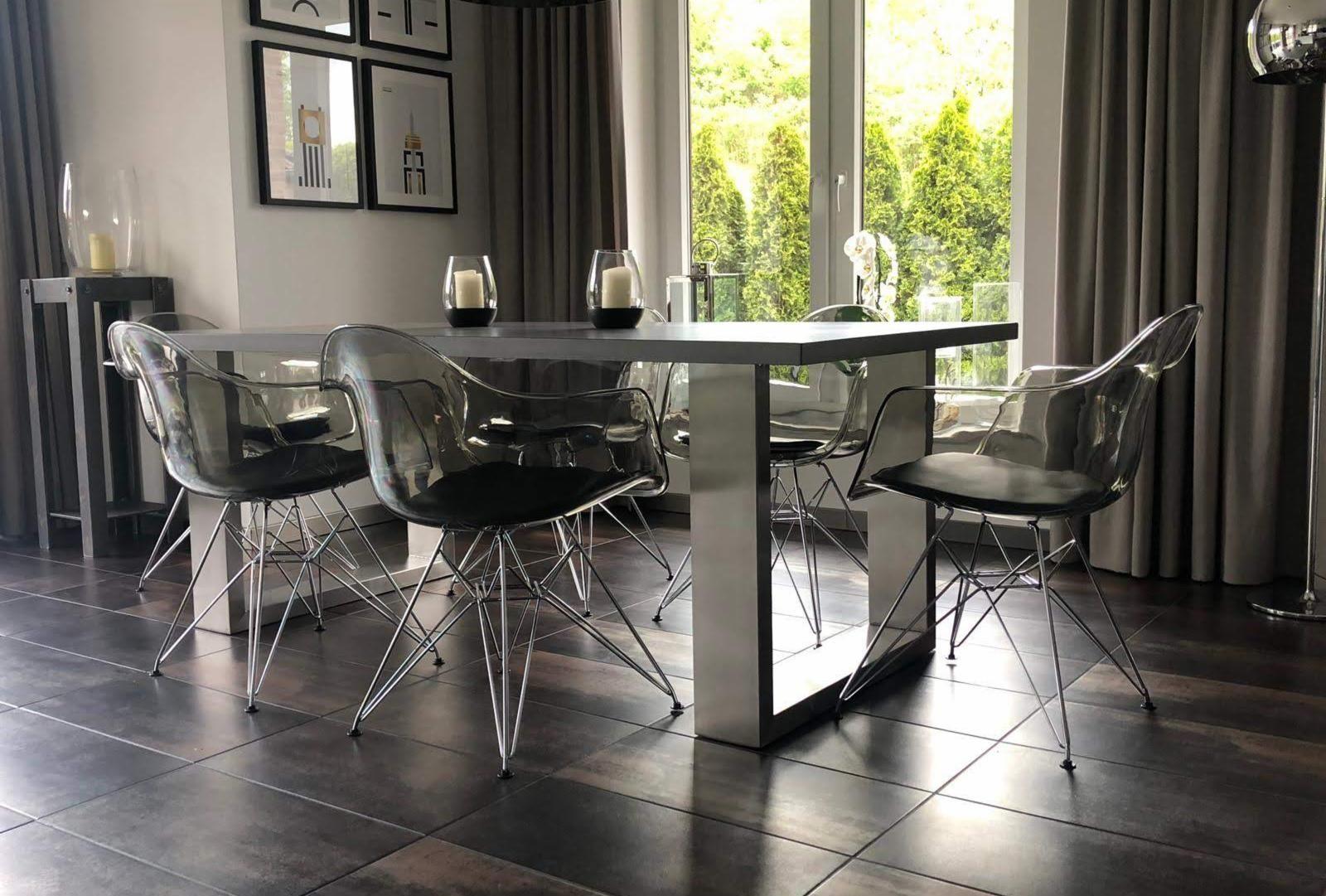 Markant, modern und schlichtes Design. Dieser Esstisch aus
