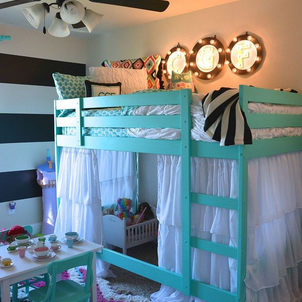 Make A Single Bedroom Special With A Super Stylish: Ikea Bunk Bed Hack, Ikea Bunk Bed