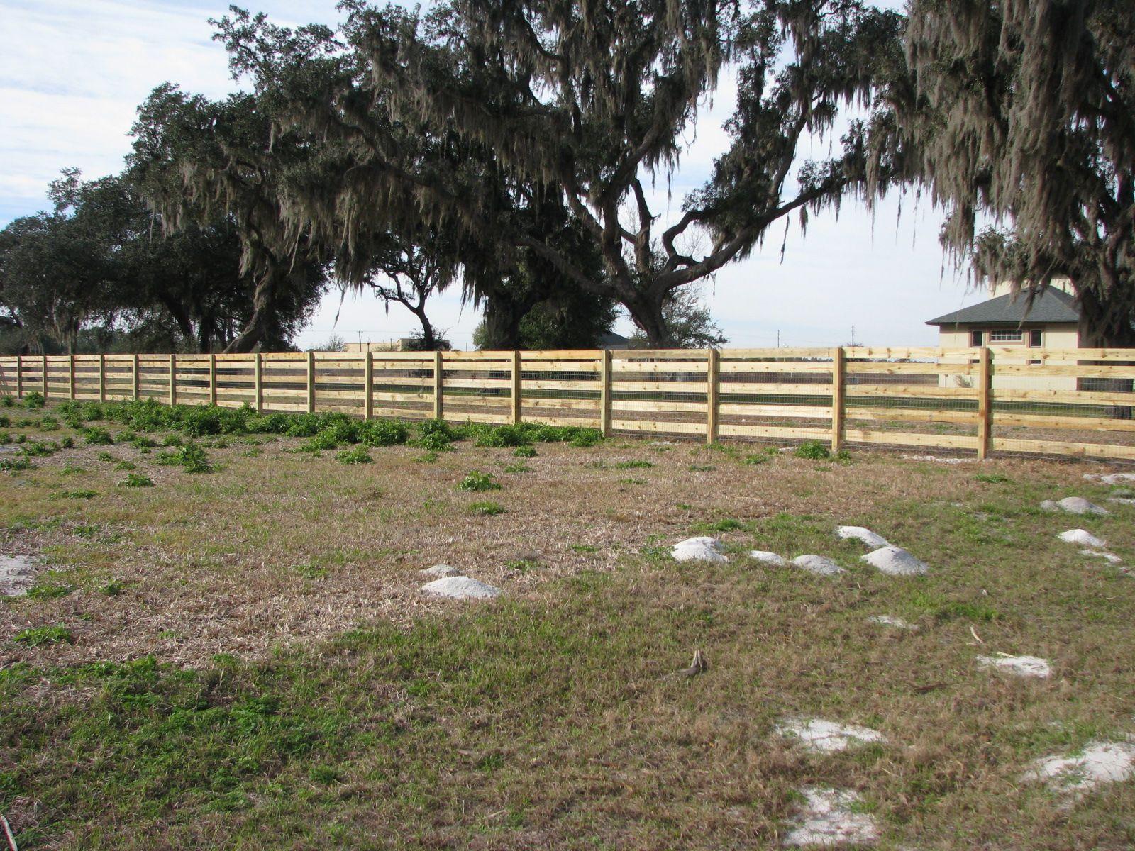 Custom wood horse fence for large properties mossy oak fence custom wood horse fence for large properties mossy oak fence company orlando melbourne baanklon Gallery