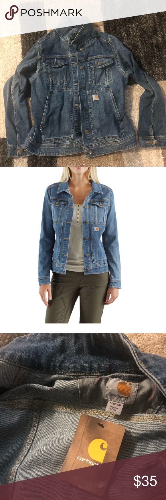 Carhartt Women's Medium Stonewash Denim Jacket Brand new Medium Retail $59.99 Carhartt Jackets & Coats Jean Jackets #carharttwomen Carhartt Women's Medium Stonewash Denim Jacket Brand new Medium Retail $59.99 Carhartt Jackets & Coats Jean Jackets #carharttwomen