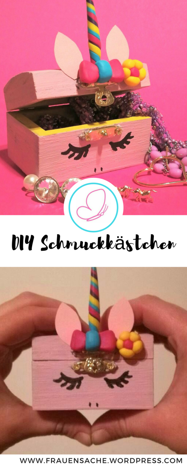 diy schmuckk stchen f r einhornfans pinterest geschenke selber basteln schmuckschatulle und. Black Bedroom Furniture Sets. Home Design Ideas