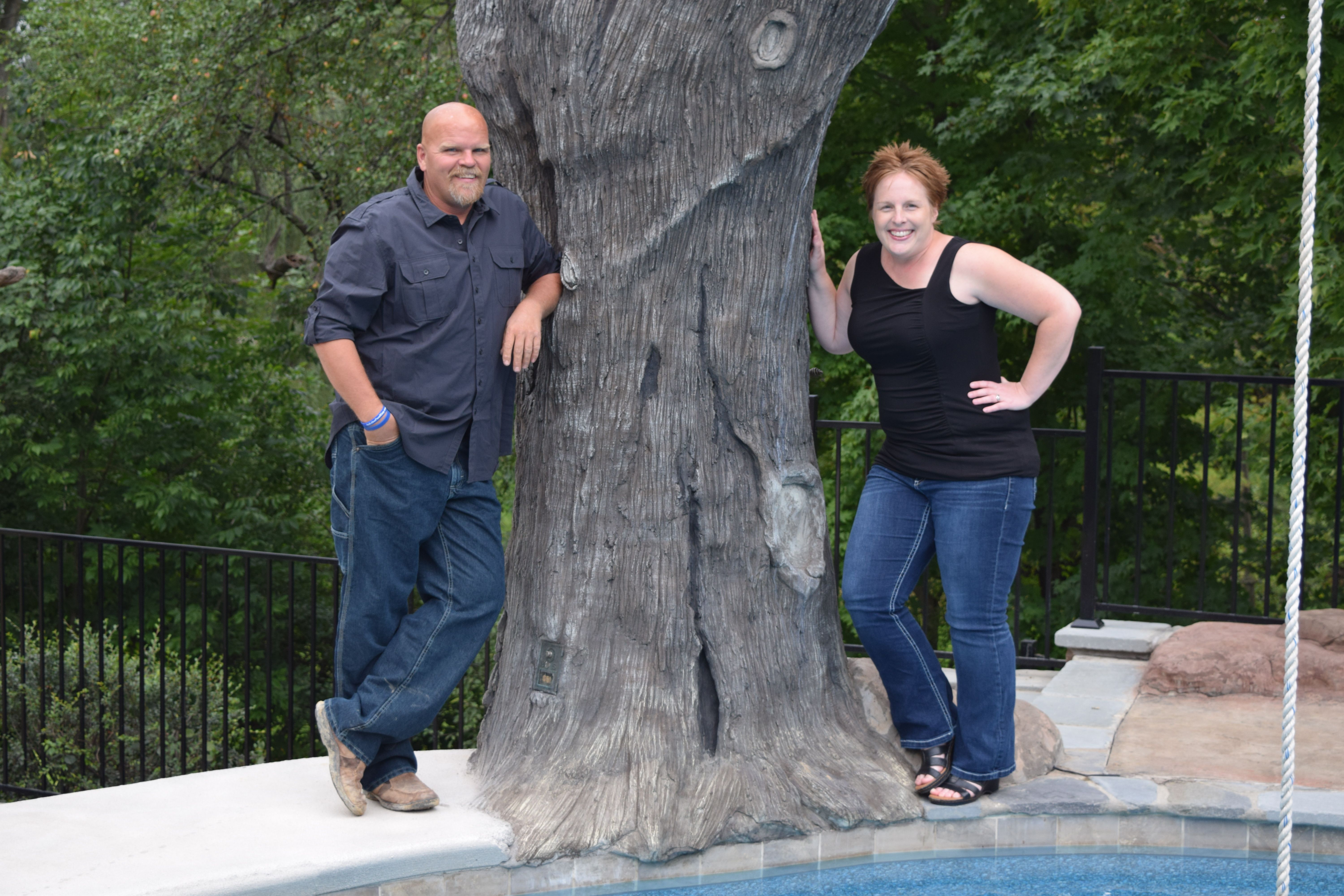 Al and Sandi work hard for every homeowner to make sure that they get everything they wanted and more for there backyard escape including the pool and everything around it :)