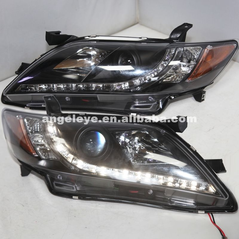 2007 2009 Year For Camry Led Head Lamp Black Color R8 Style Yellow Reflector Sn Black Lamps Car Car Lights