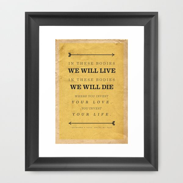 Mumford and Sons Framed Art Print $45 | gift suggestions | Pinterest ...