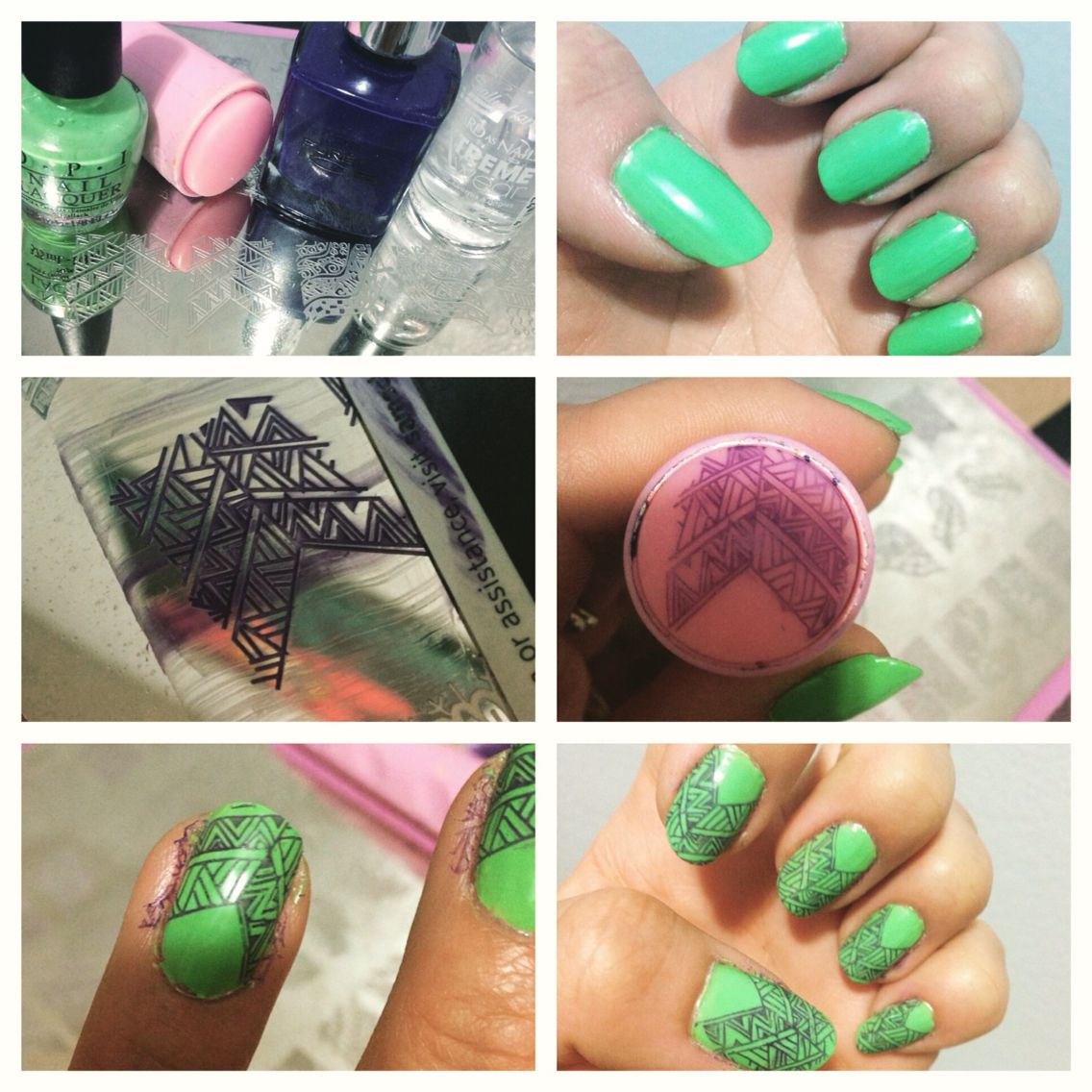 Nail stamping Step 1- get your supplies Step 2- paint two coats of ...