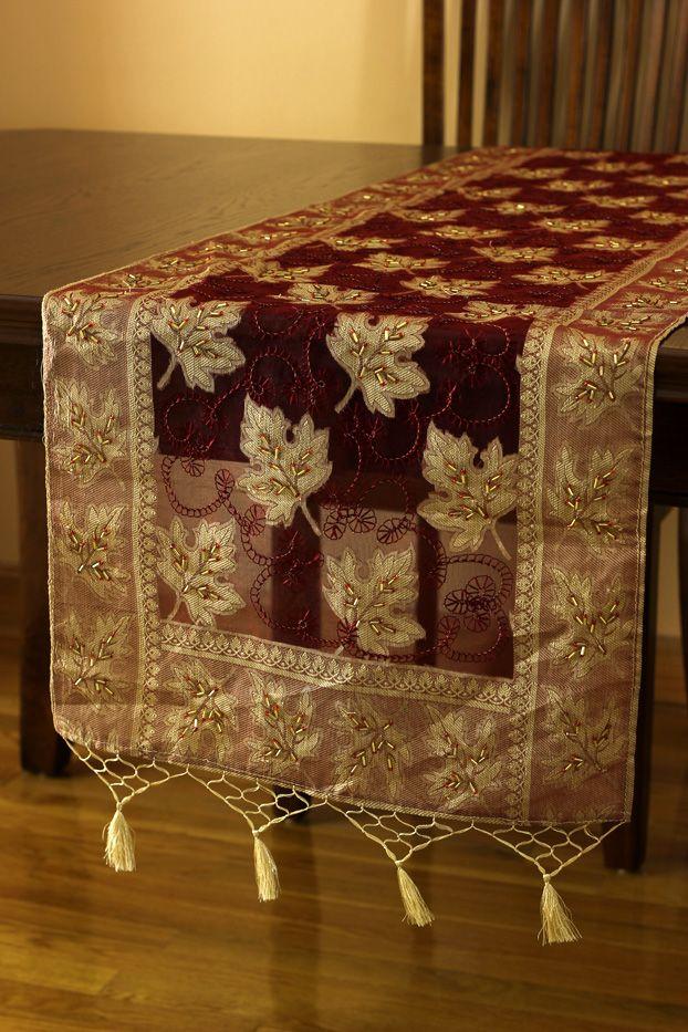 Delightful Elegant #silk #table Runner