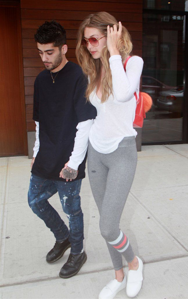 Gigi Hadid And Zayn Malik Hold Hands While Strolling Through Nyc