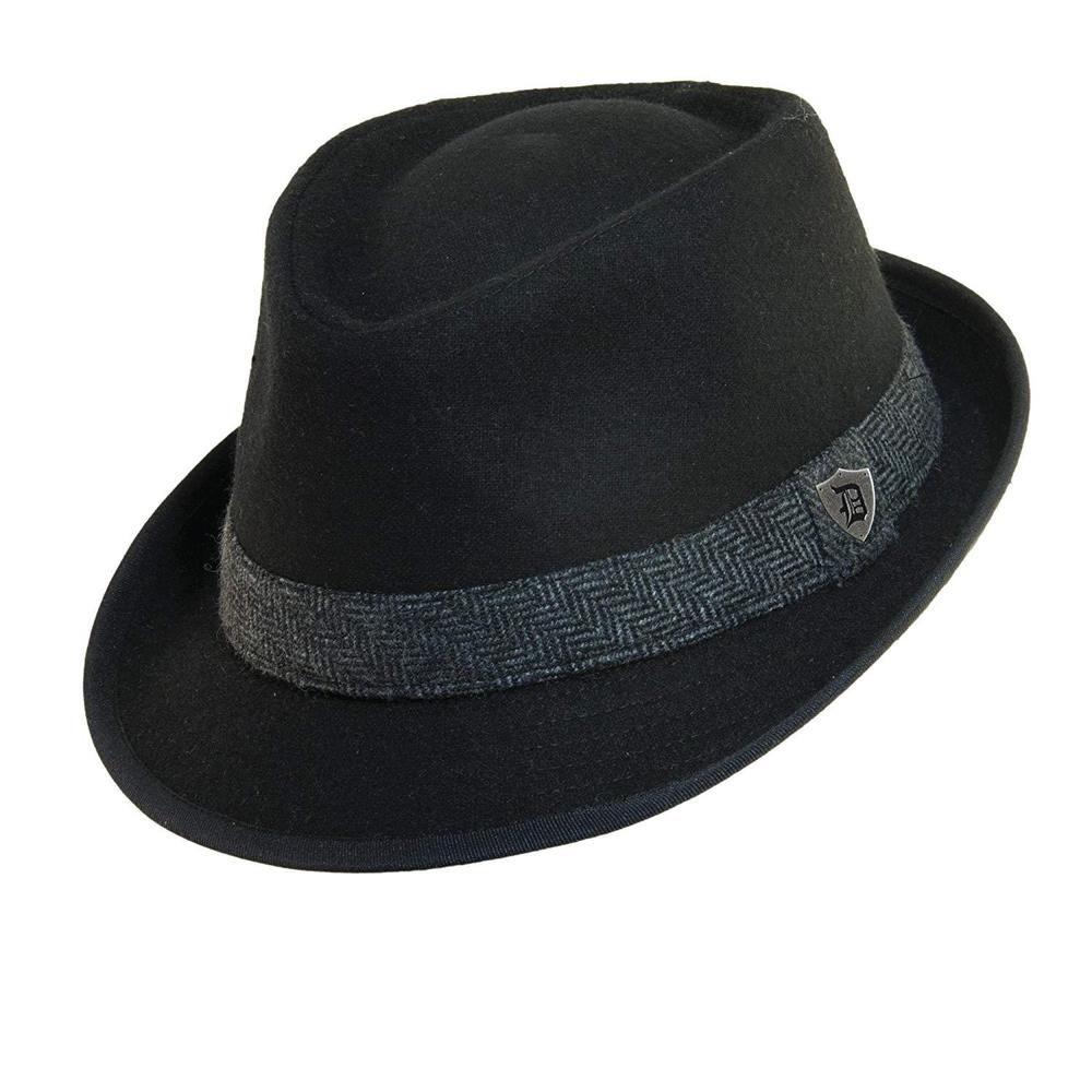 117277c8 Dorfman Pacific Men's Wool Herringbone Band Classic Fedora Hat #fashion  #clothing #shoes #
