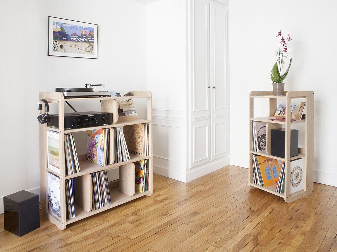 Port E Le Meuble Pour Vinyles De Estis Turntable Setup  # Meuble Tv Quintana