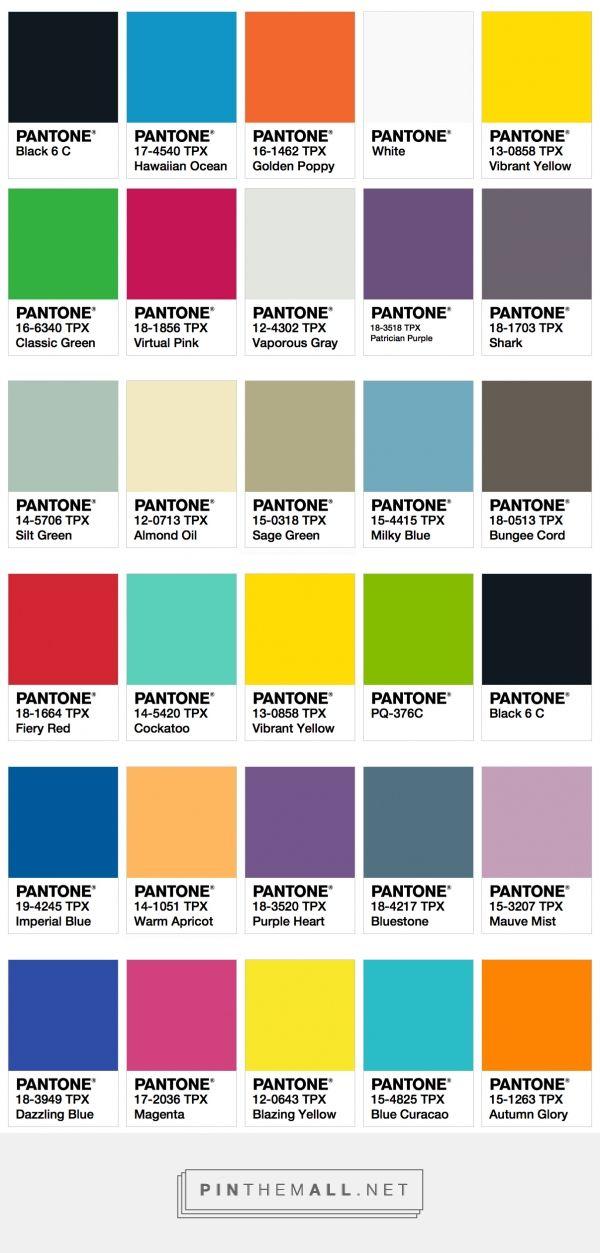 ISPO Color Palette Fall/Winter 2017/2018 ‹ Fashion ...