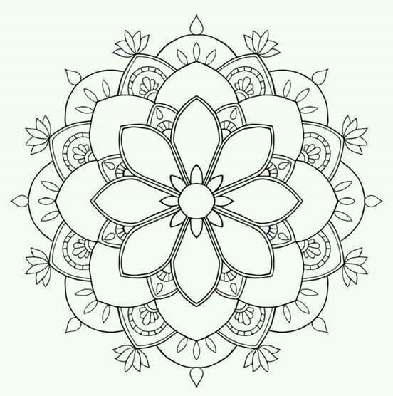 Coloring Mexican Embroidery Zentangle Mandalas